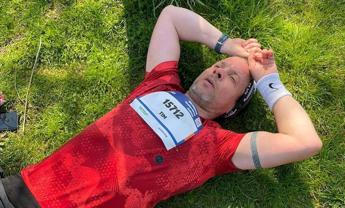 Tim Barclay ran the Edinburgh virtual marathon